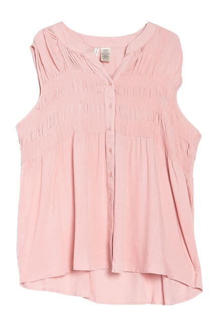 Image of Forgotten Grace Button Down Smocked Tunic