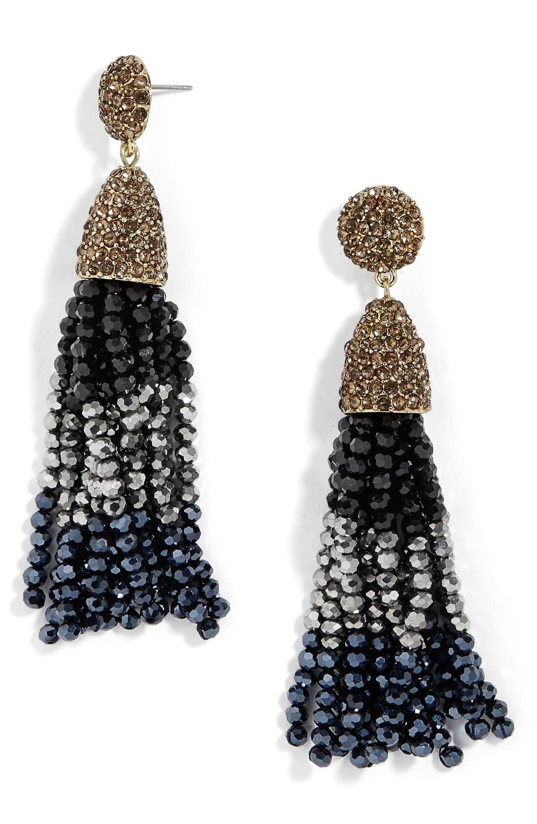 'Nynette' Tassel Drop Earrings, Main, color, 019