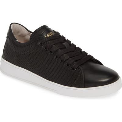 Blackstone Rl72 Perforated Low Top Sneaker, Black