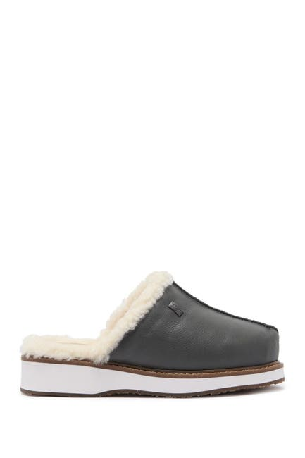 Image of Australia Luxe Collective Vegan Leather Genuine Shearling Supper Mule