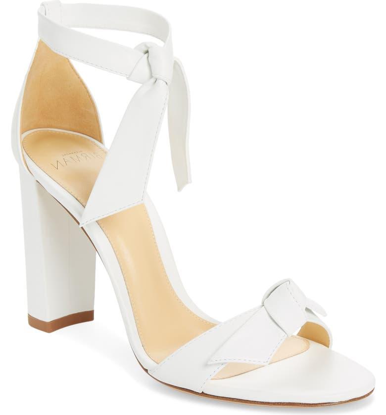 ALEXANDRE BIRMAN Clarita Block Heel Sandal, Main, color, WHITE