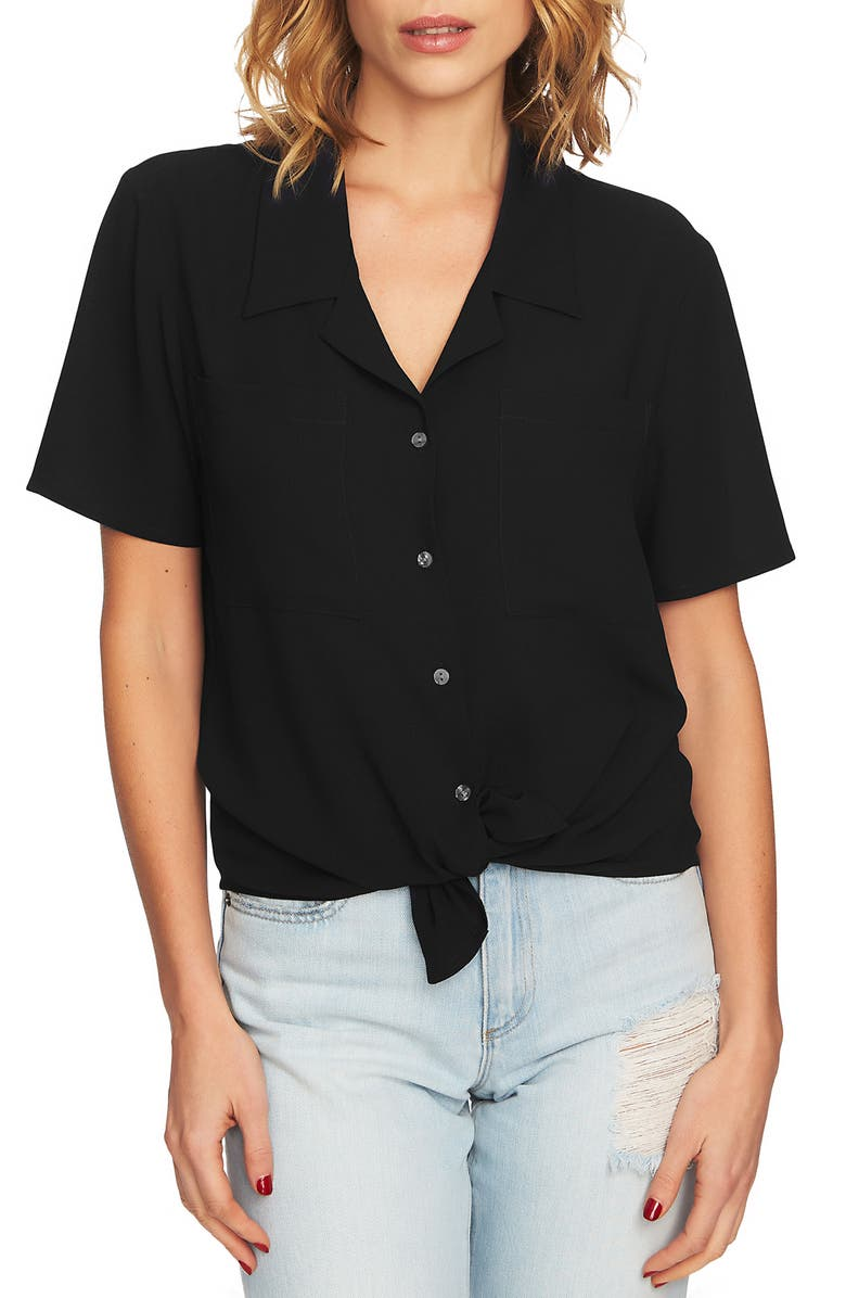 1.STATE Tie Front Button Down Blouse, Main, color, 006