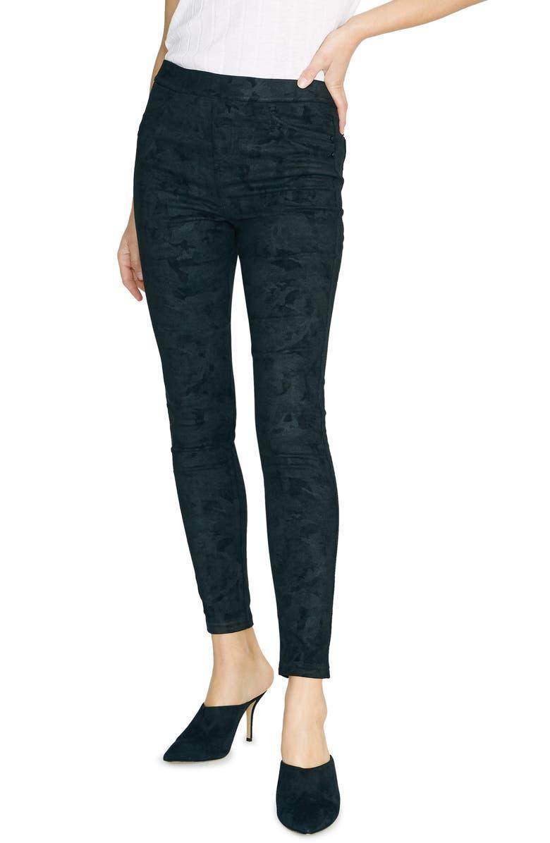 SANCTUARY Grease Leggings, Main, color, BLACK CAMO
