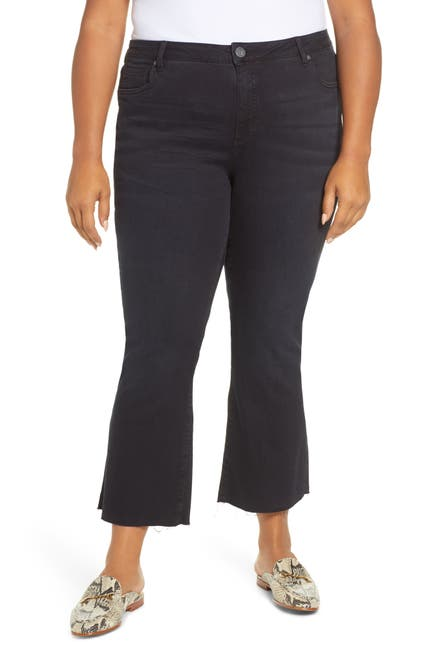Image of KUT from the Kloth Stella Kick Flare Crop Jeans