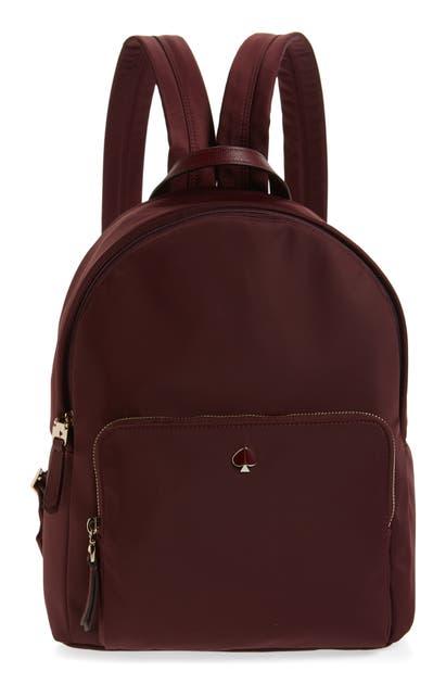 Kate Spade Backpacks TAYLOR LARGE NYLON BACKPACK - RED