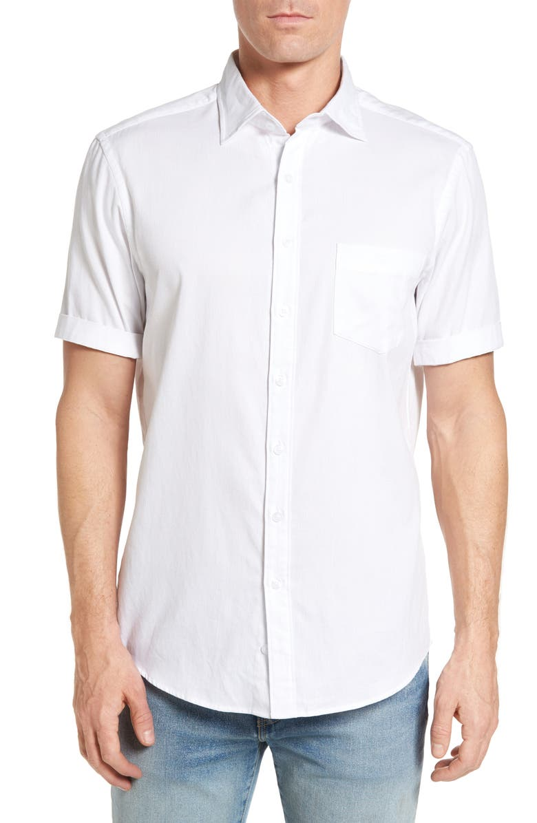 RODD & GUNN Campbell Island Sport Shirt, Main, color, SNOW