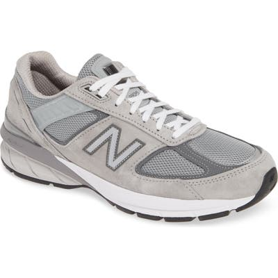 New Balance 990 V5 Made In Us Running Shoe, Grey