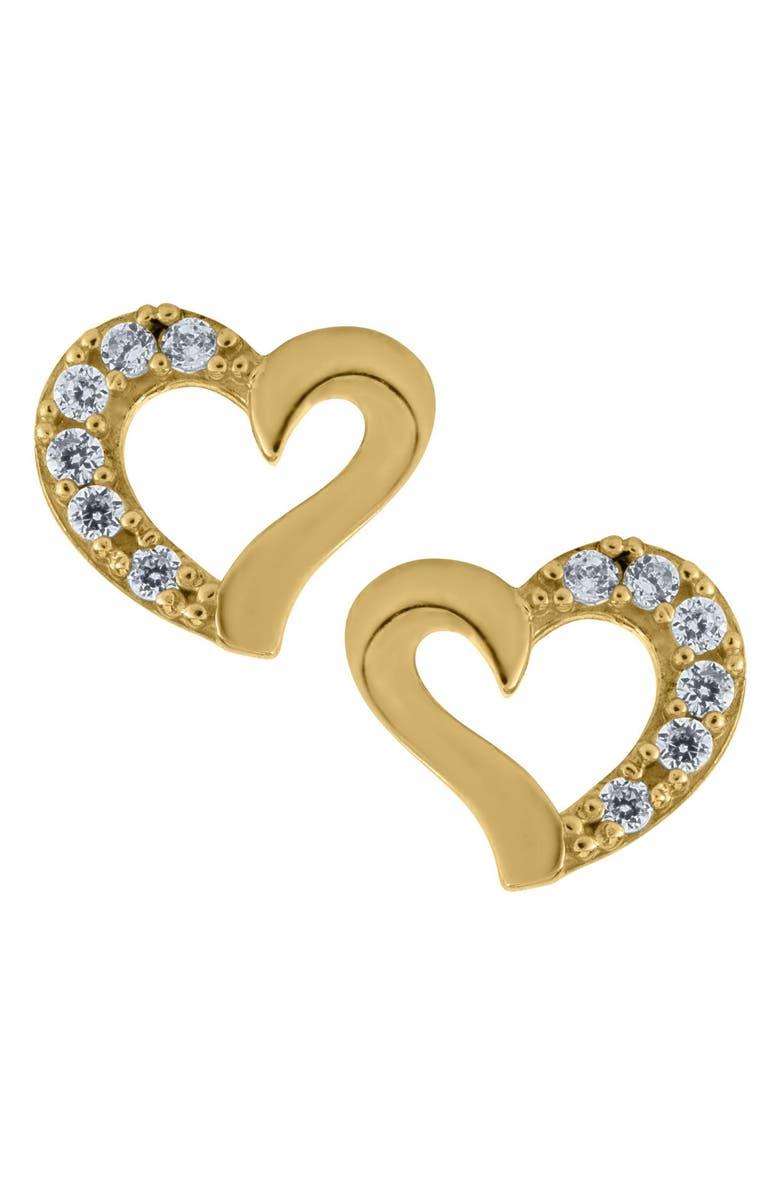 MIGNONETTE 14k Gold Heart Earrings, Main, color, GOLD