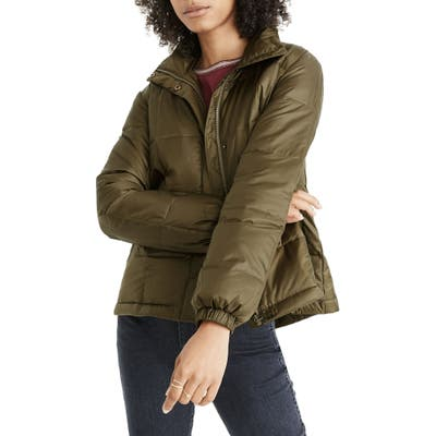 Madewell Travel Buddy Packable Puffer Jacket, Green