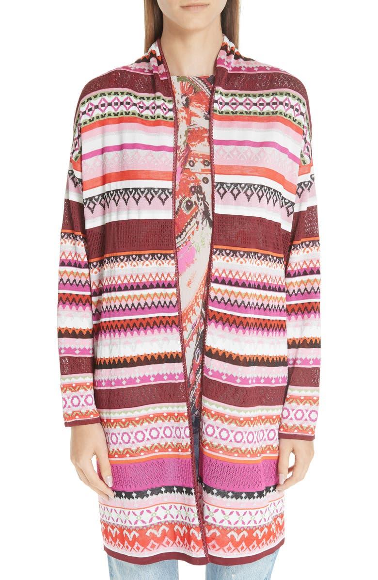 FUZZI Knit Shawl Collar Cardigan, Main, color, 100