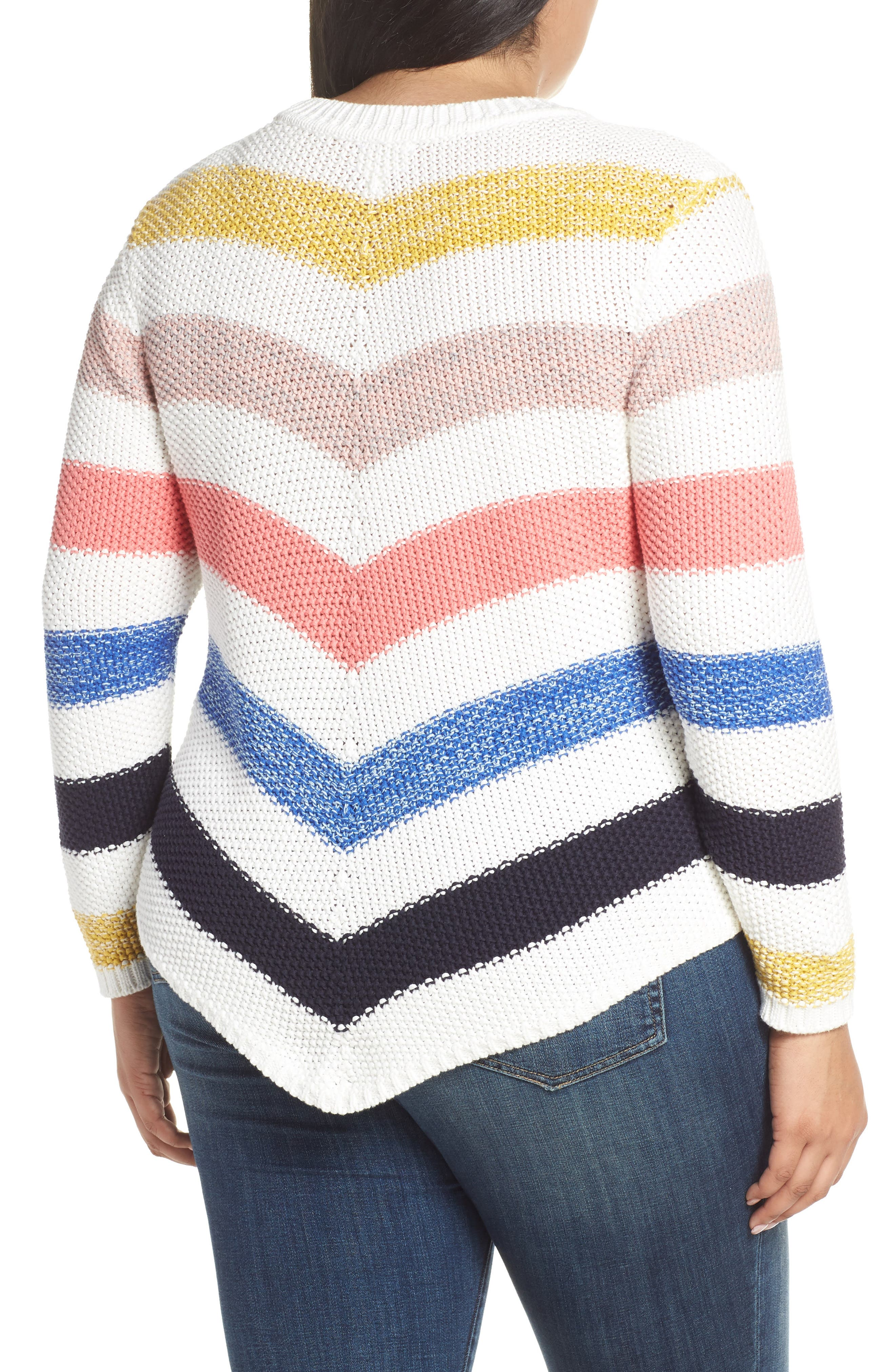 ,                             Stitch Stripe Sweater,                             Alternate thumbnail 8, color,                             901