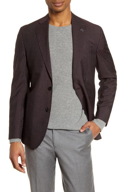 Image of Ted Baker London Kyle Trim Fit Check Wool Blend Sport Coat