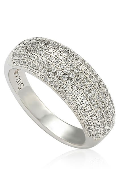 Image of Suzy Levian Sterling Silver Cubic Zirconia Ring
