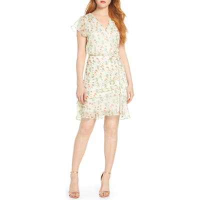 Sam Edelman Floral Tie Waist Dress, Ivory