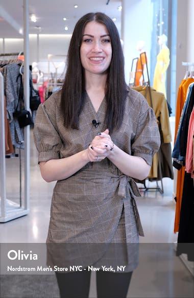 Sweetheart Print Jersey Faux Wrap Dress, sales video thumbnail