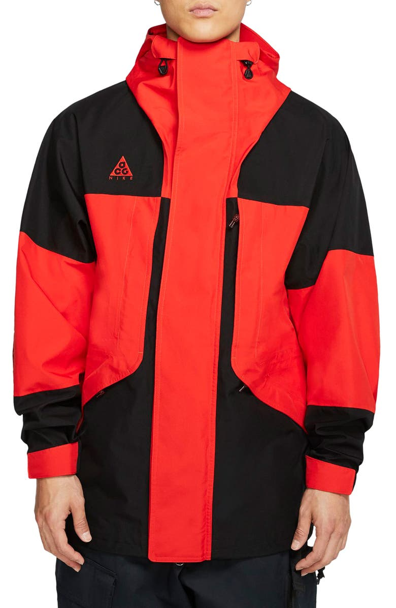 NIKE ACG Gore-Tex<sup>®</sup> Jacket, Main, color, BLACK/ HABANERO RED