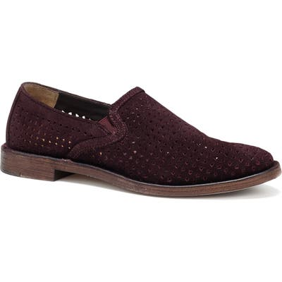 Trask Ali Perforated Flat, Burgundy