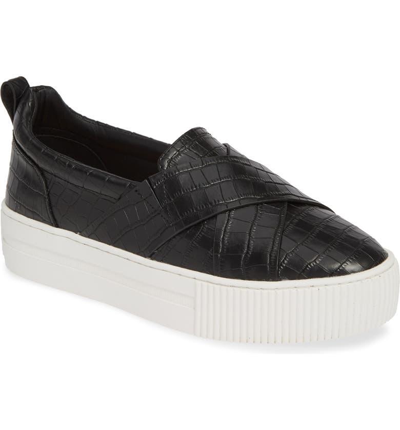 HALOGEN<SUP>®</SUP> Blakely Slip-On Platform Sneaker, Main, color, 001