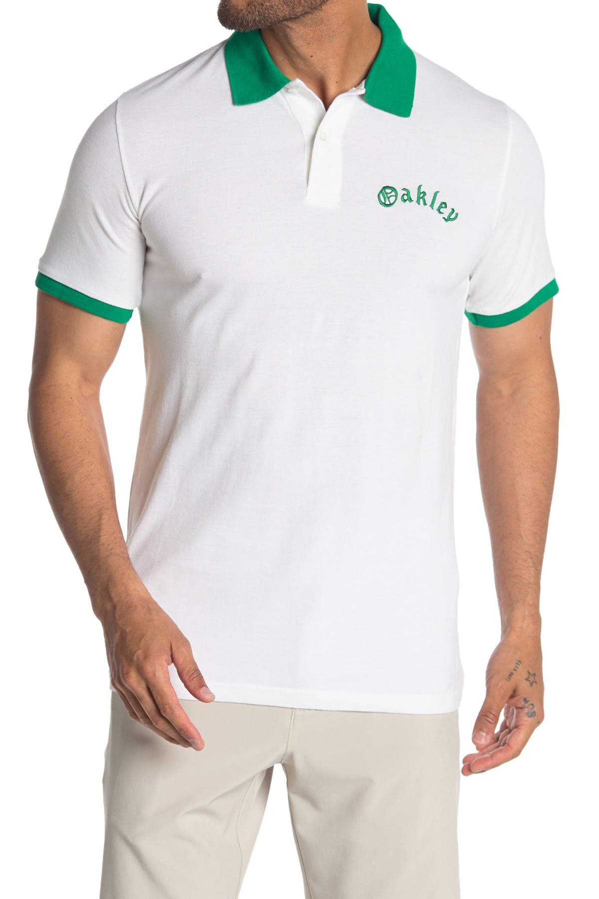 Image of Oakley Tipped Piquet Polo