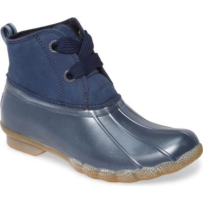 Sperry Saltwater Waterproof Rain Boot, Blue