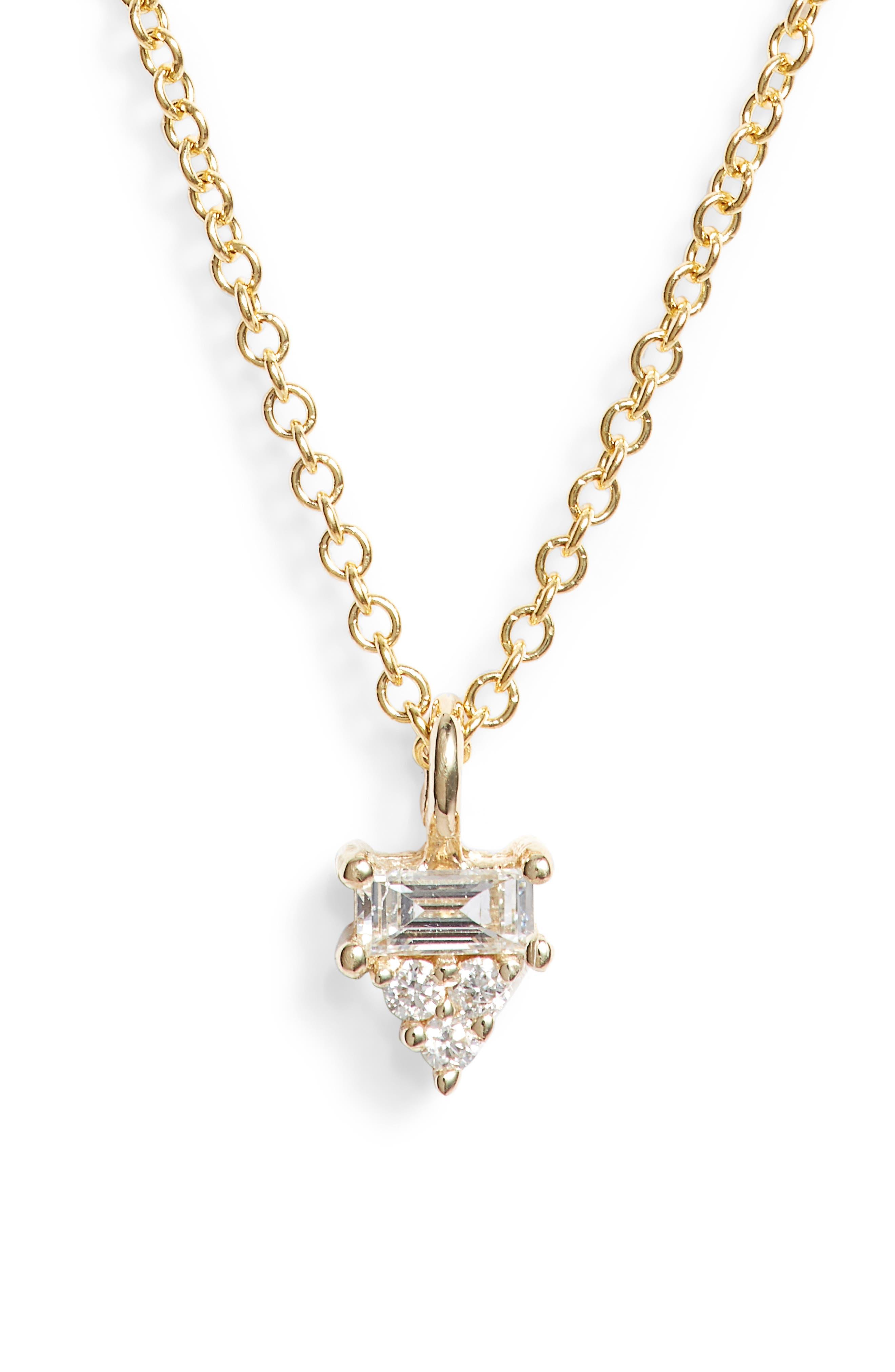 Diamond Cluster Pendant Necklace