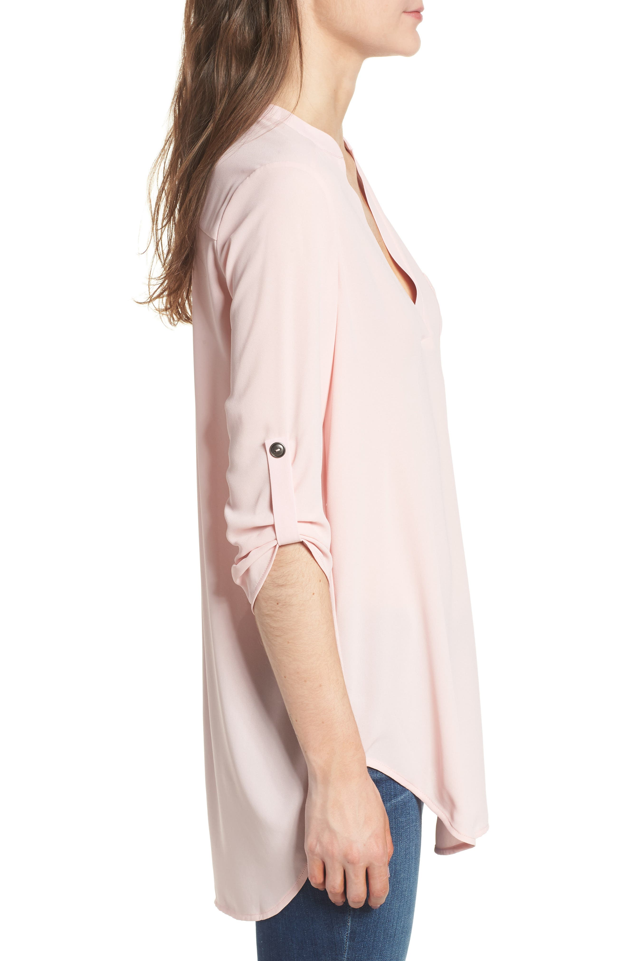 ,                             Perfect Roll Tab Sleeve Tunic,                             Alternate thumbnail 139, color,                             655