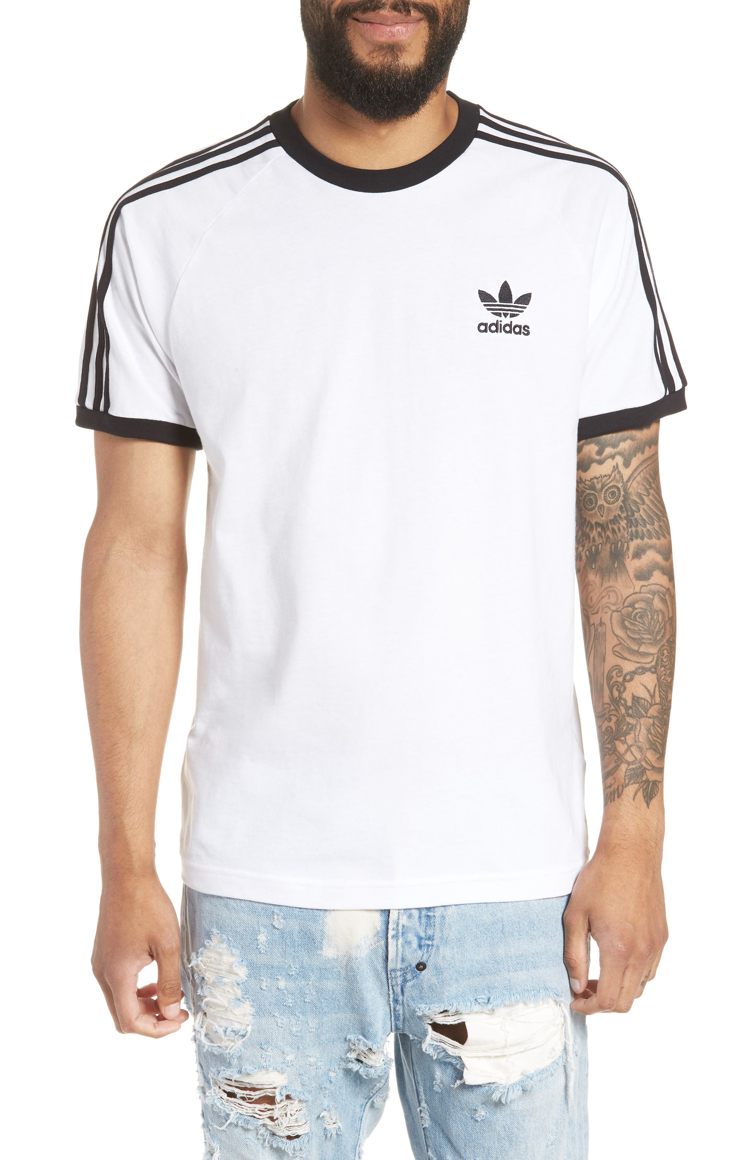 Adidas Originals 3-Stripes T-Shirt, White