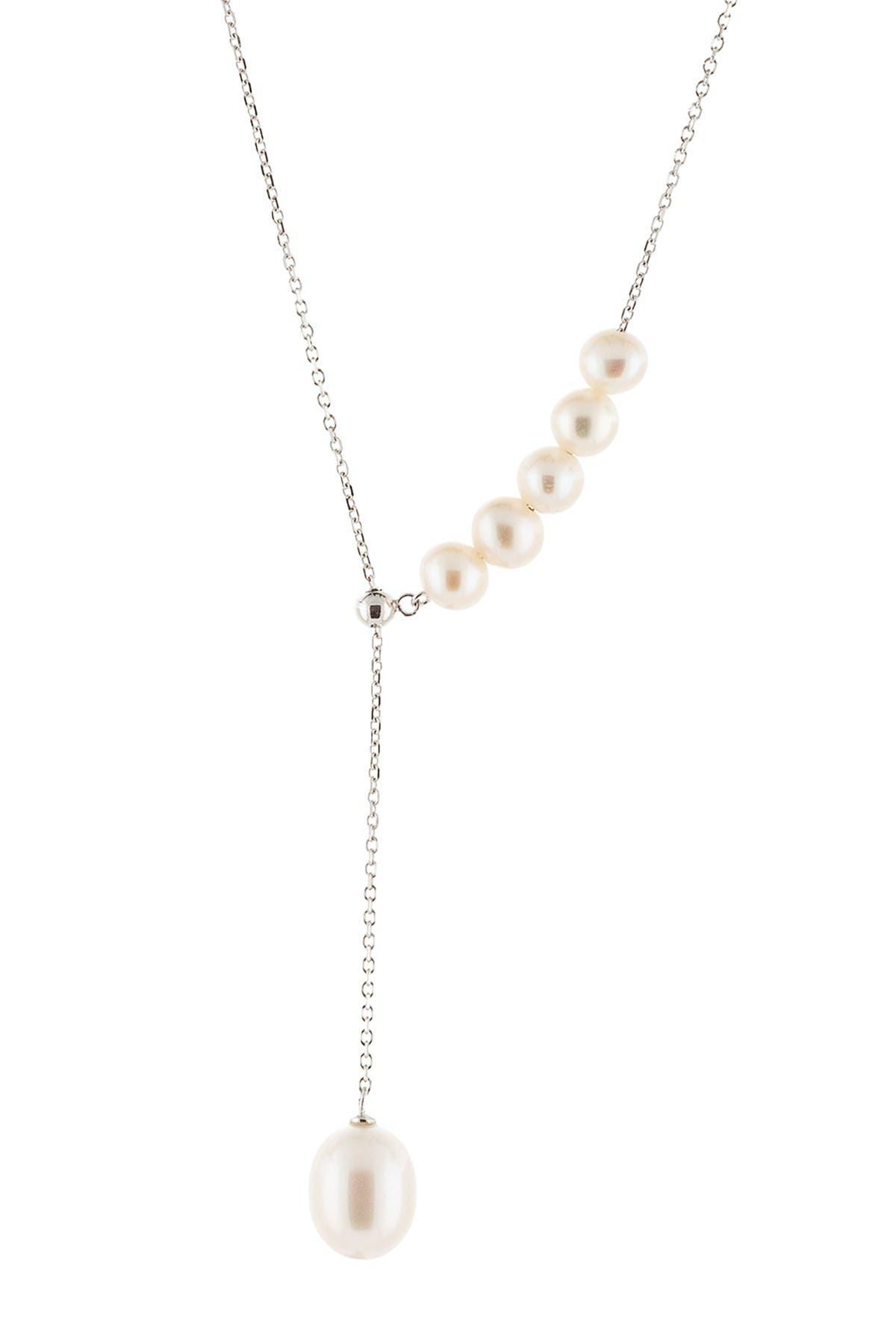 Splendid Pearls Dangling 8-8.5mm Cultured Freshwater Pearl Slider Necklace at Nordstrom Rack