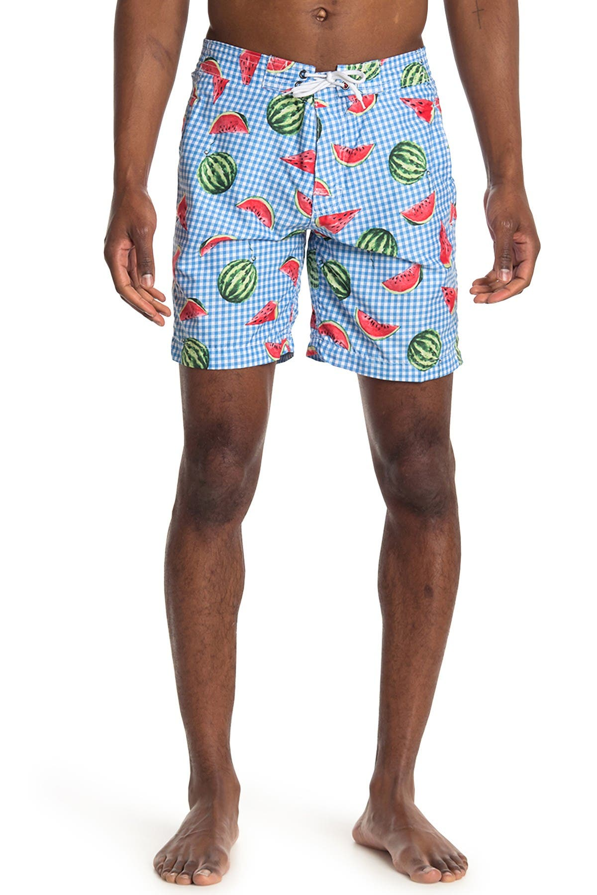 Image of Trunks Surf and Swim CO. Swami Watermelon Print Board Shorts