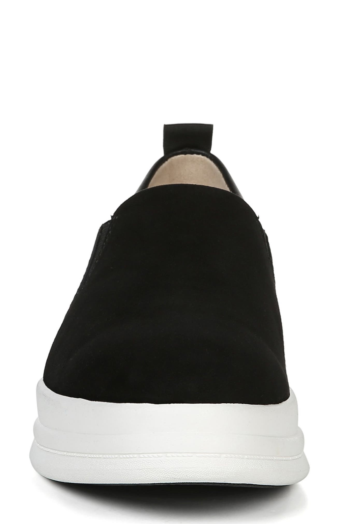 ,                             Yola Slip-On Sneaker,                             Alternate thumbnail 4, color,                             BLACK SUEDE/ LEATHER