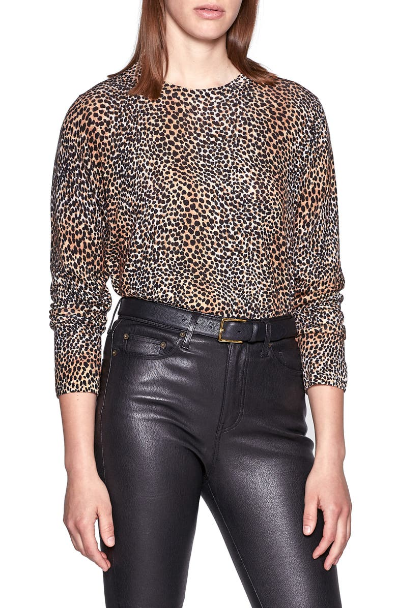 EQUIPMENT Animal Print Wool Sweater, Main, color, 001