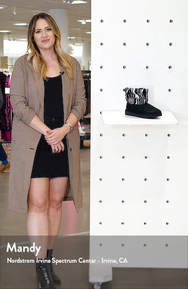Mini Fluff Quilted Animal Print Boot, sales video thumbnail