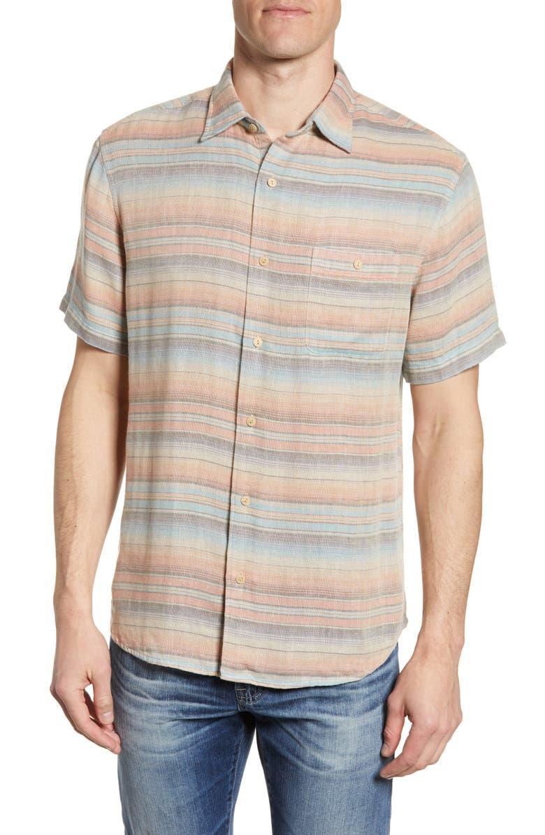 FAHERTY Coast Regular Fit Stripe Shirt, Main, color, 402