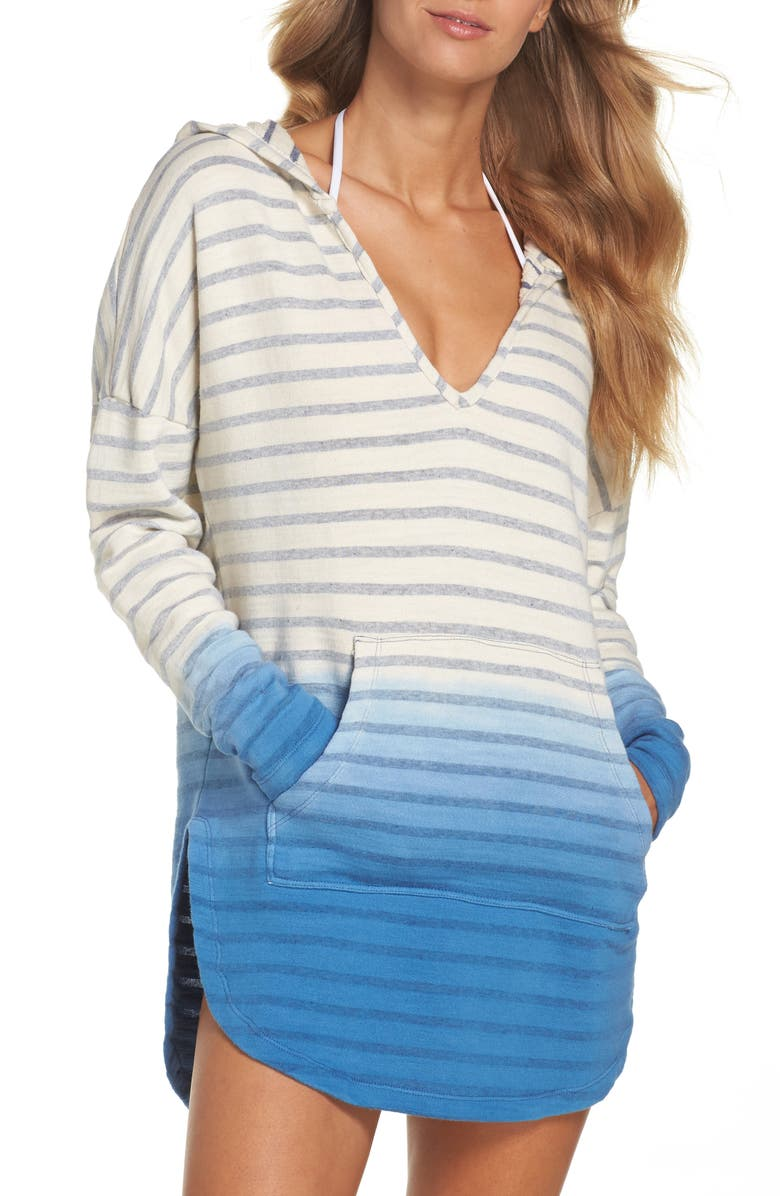 GREEN DRAGON Set Sail Angie Cover-Up Hooded Tunic, Main, color, 401