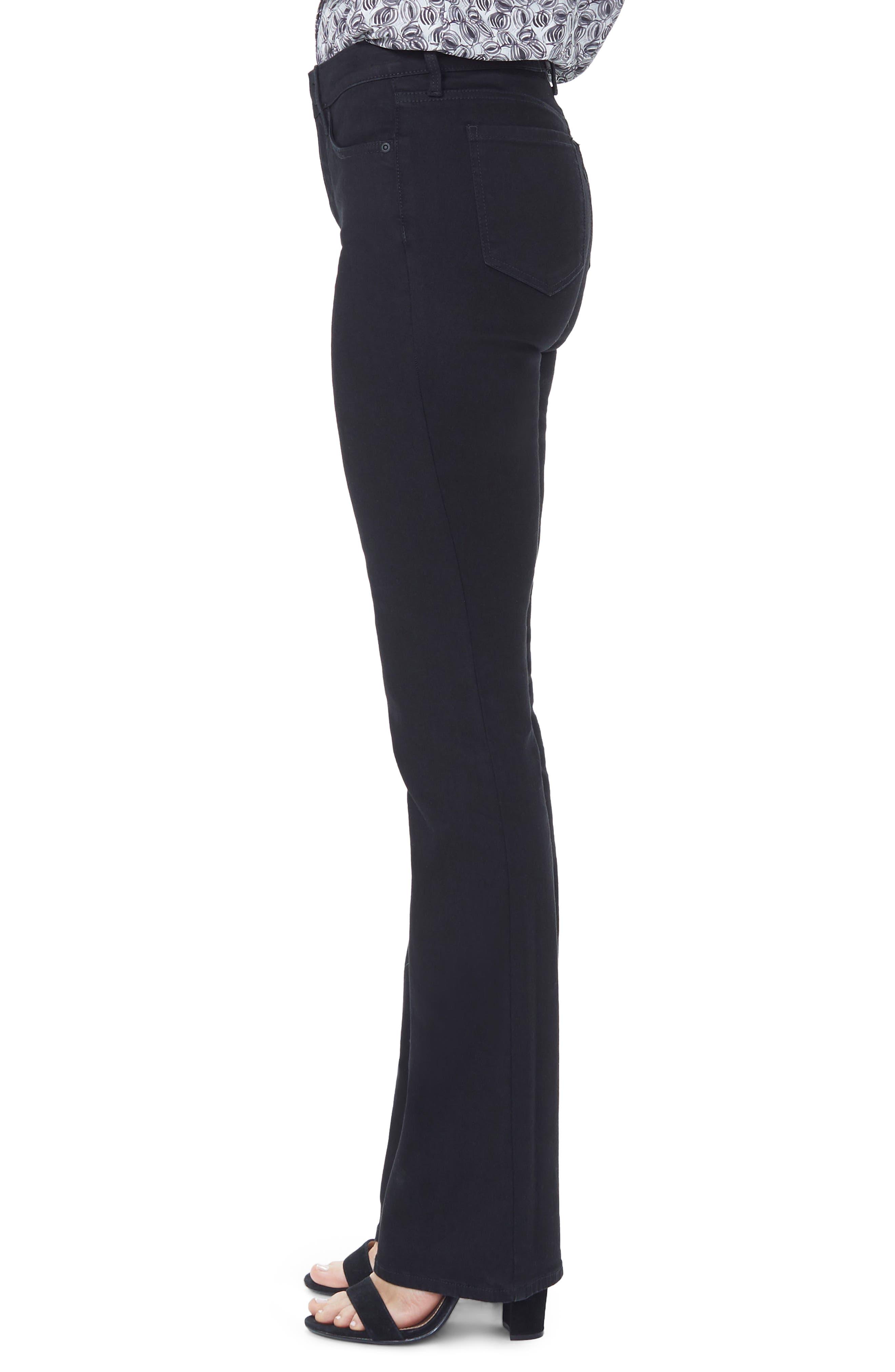 ,                             Barbara High Waist Stretch Bootcut Jeans,                             Alternate thumbnail 4, color,                             BLACK