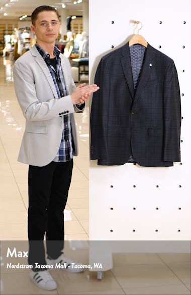 Jay Trim Fit Plaid Wool Sport Coat, sales video thumbnail