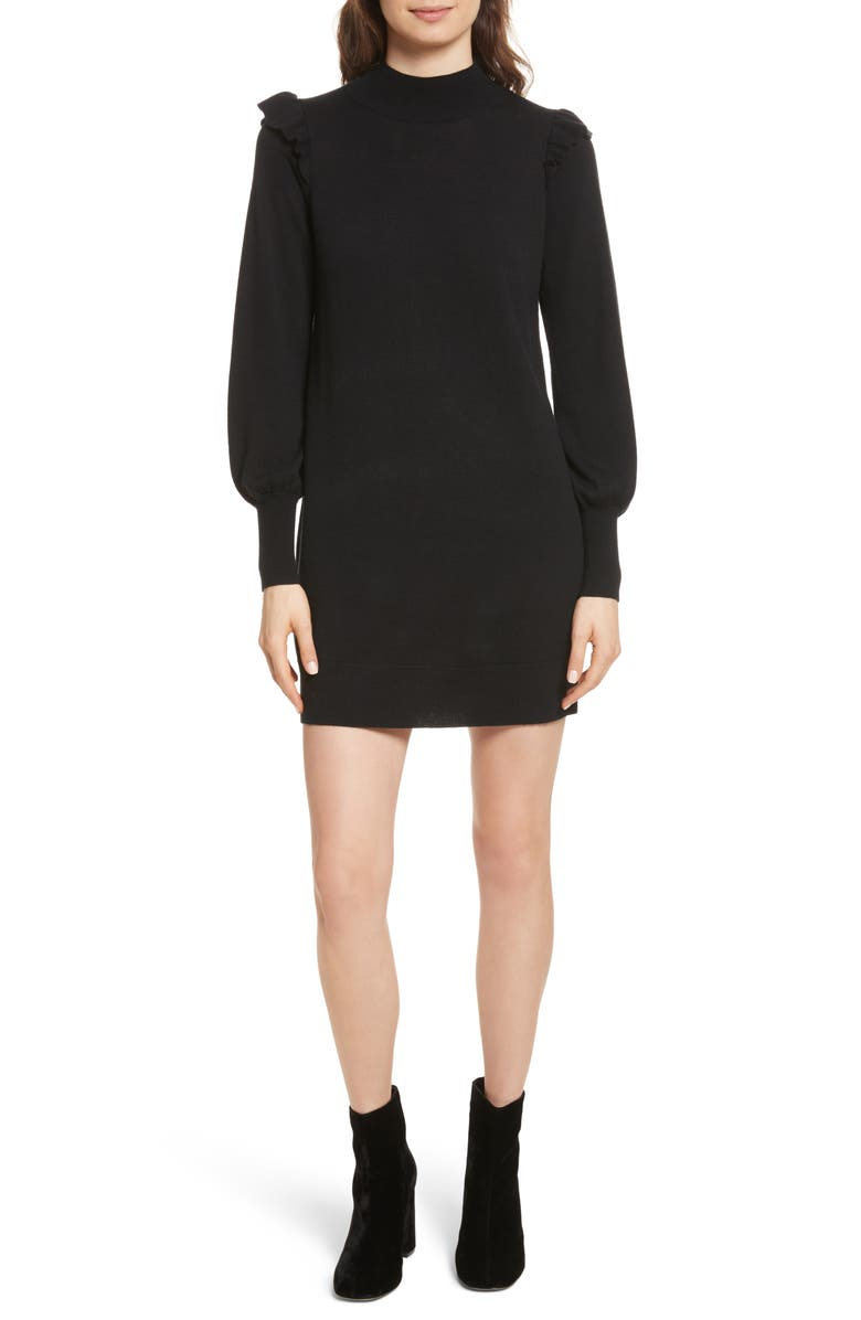 JOIE Catriona Wool & Silk Sweater Dress, Main, color, 002