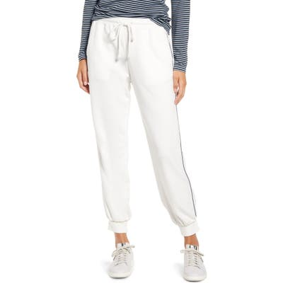 Lou & Grey Piped Terry Sweatpants, Ivory