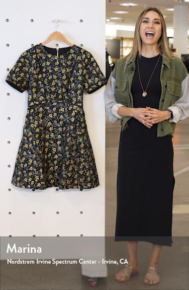 Divwine Floral Jacquard Fit & Flare Dress, sales video thumbnail