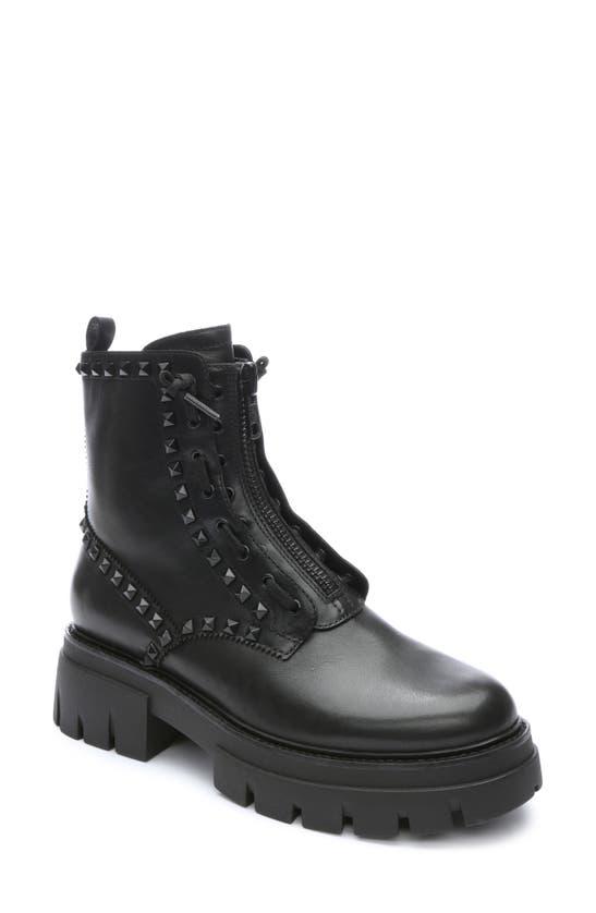Ash Lynch Studded Platform Boot In Black