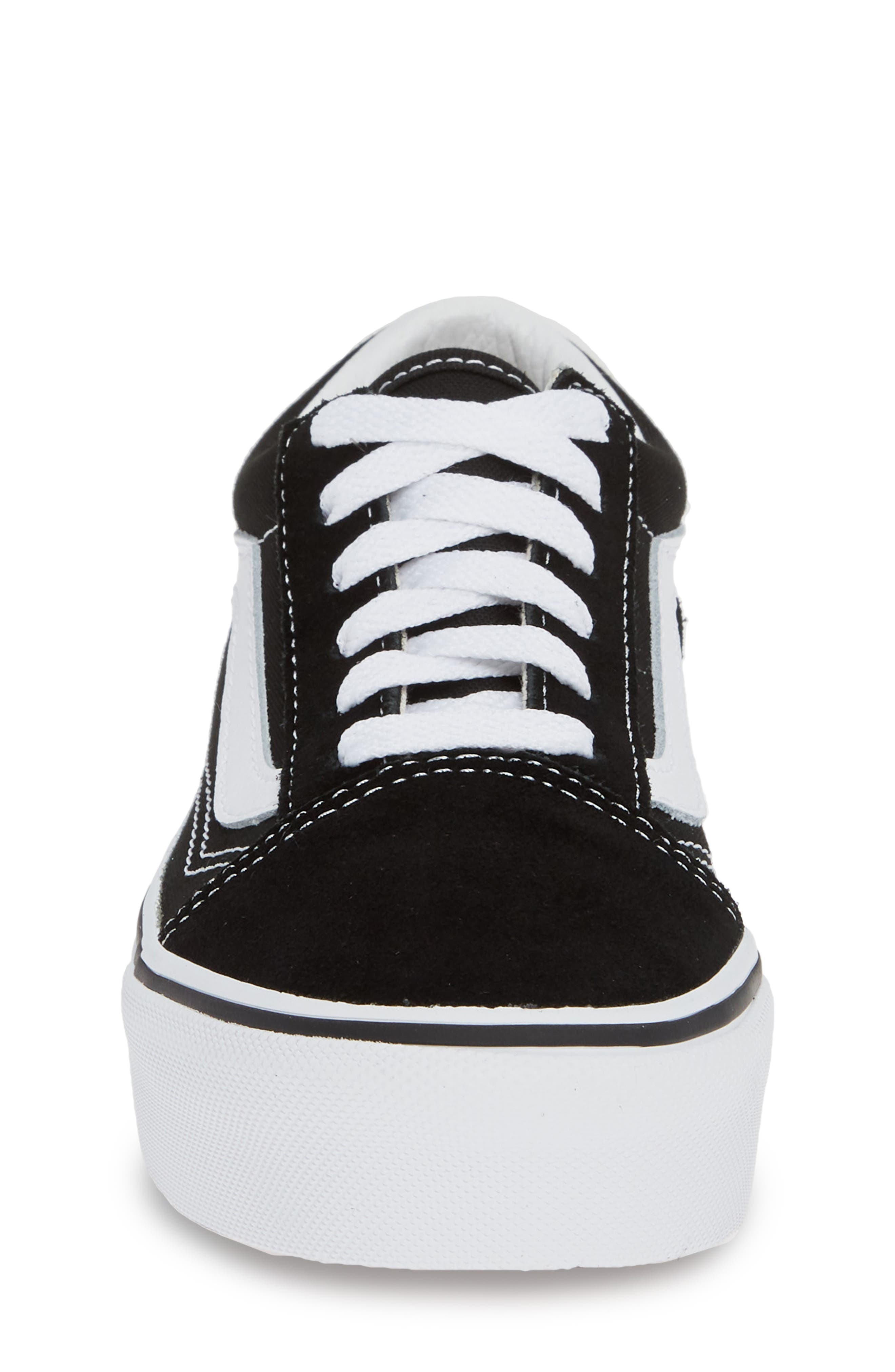 ,                             Old Skool Platform Sneaker,                             Alternate thumbnail 4, color,                             BLACK/ TRUE WHITE