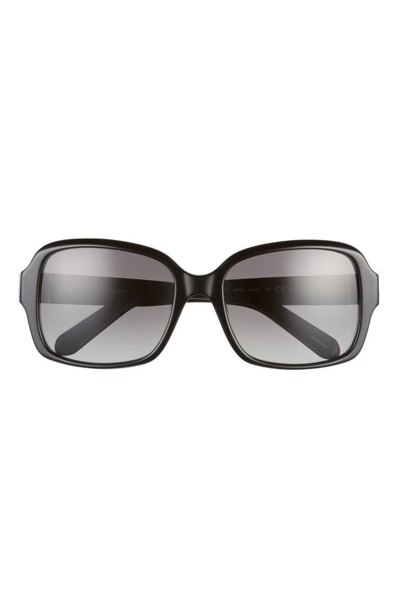 KATE SPADE NEW YORK annor 54mm polarized sunglasses, Main, color, BLACK/ GREY