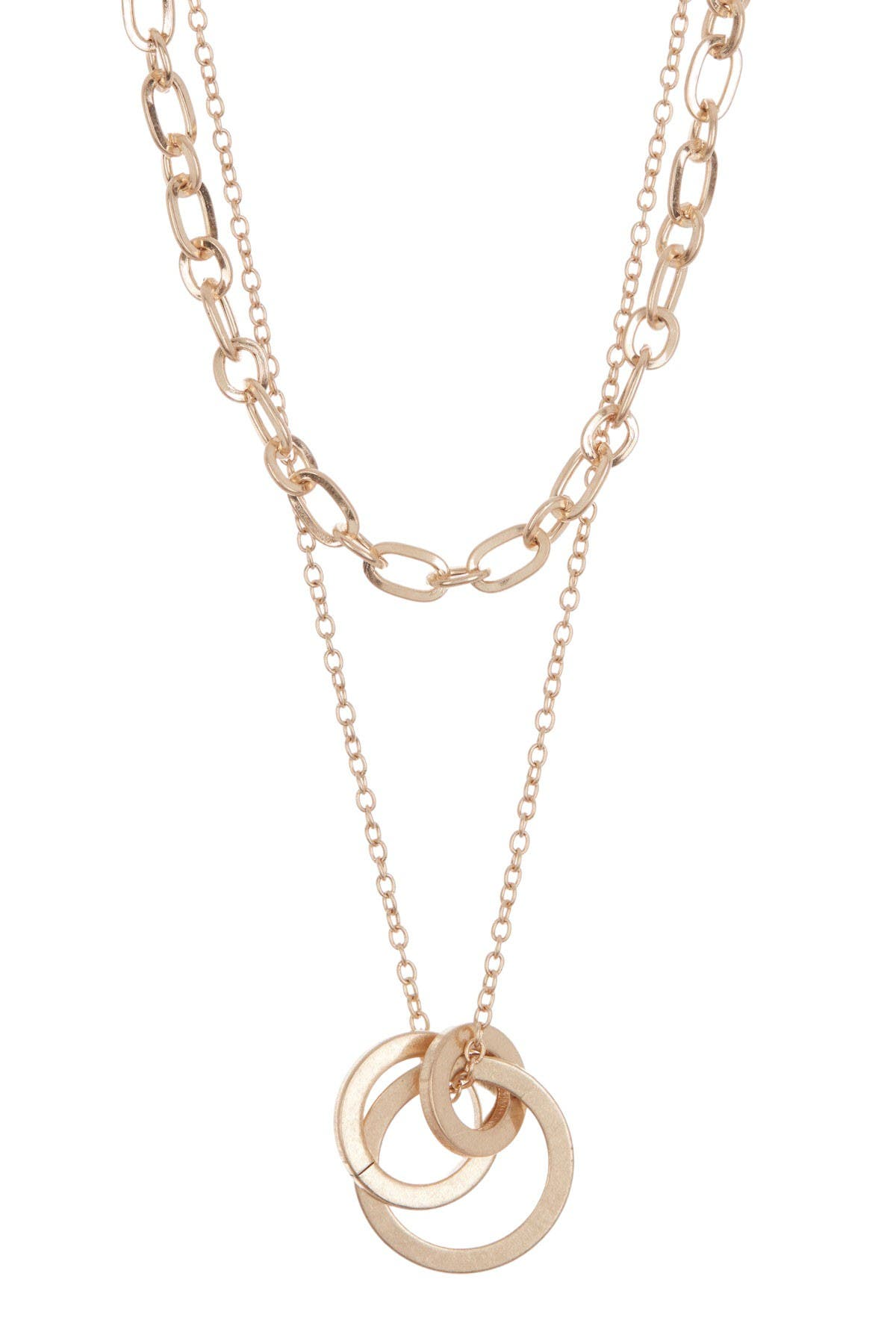 Image of AREA STARS Link Drop Circles Chain Necklace