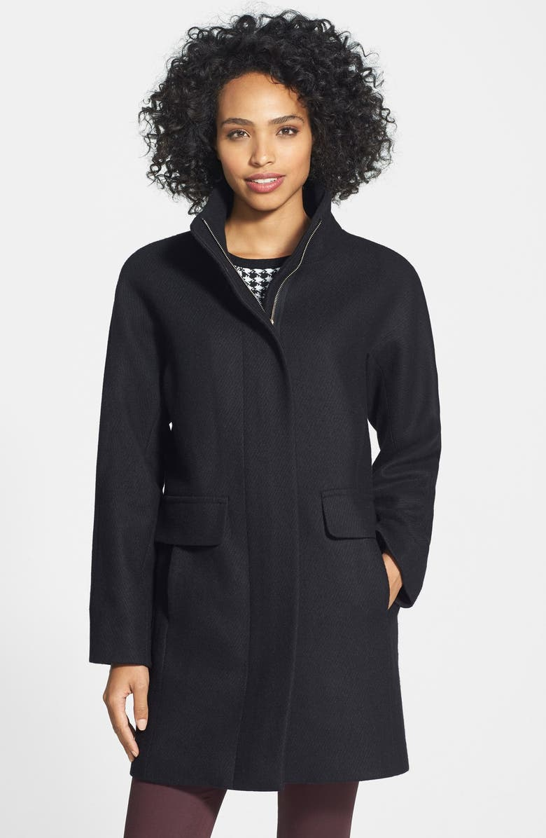 VINCE CAMUTO Wool Blend Coat, Main, color, 001