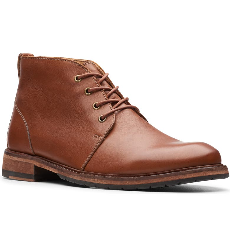 CLARKS<SUP>®</SUP> Clarkdale Chukka Boot, Main, color, DARK TAN LEATHER