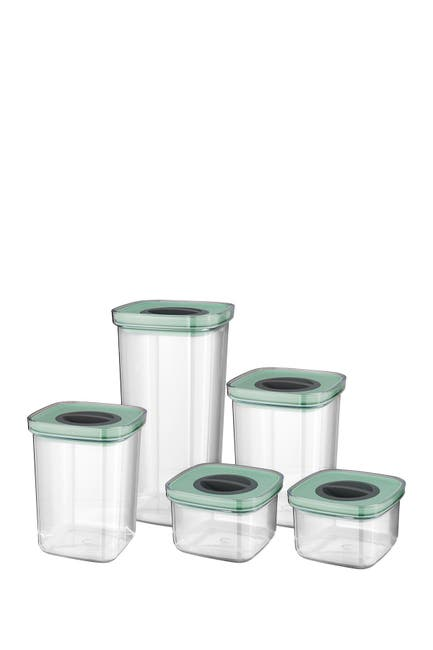 Image of BergHOFF Leo Smart Seal Food Container 10-Piece Set - Green