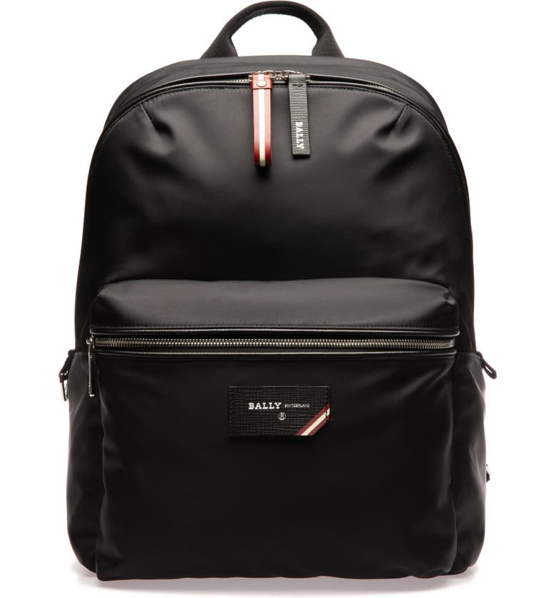 BALLY Ferey Black Backpack, Main, color, BLACK