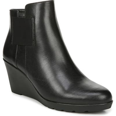 Naturalizer Laila Water Resistant Wedge Bootie, Black