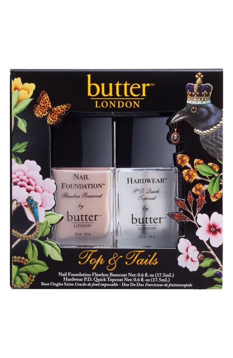 BUTTER LONDON 'Top & Tails' Set, Main, color, 000