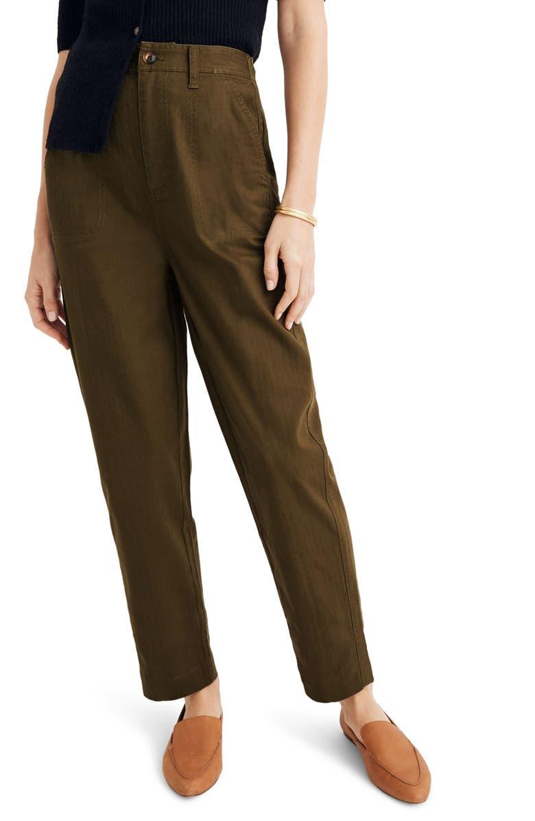 MADEWELL Camp Pants, Main, color, KALE